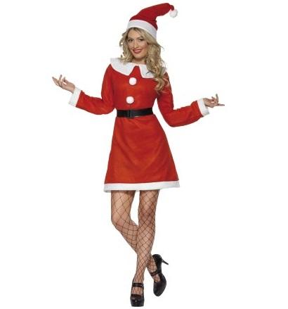 Kerstvrouw fleece - Large