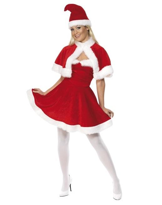 Kerstvrouw met cape - Medium