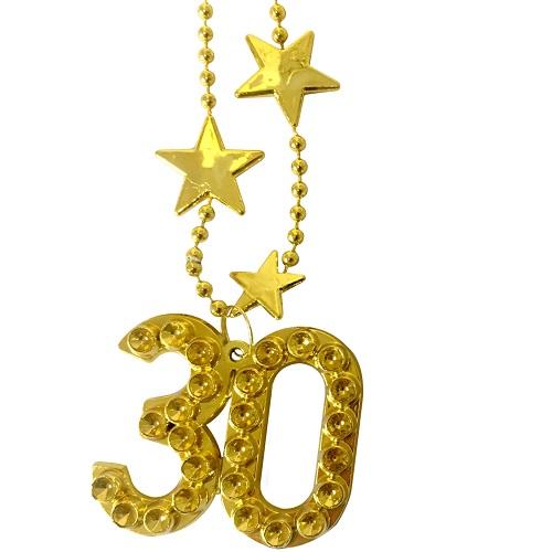 Ketting goud met sterren 30 jaar