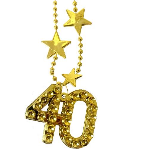 Ketting goud met sterren 40 jaar
