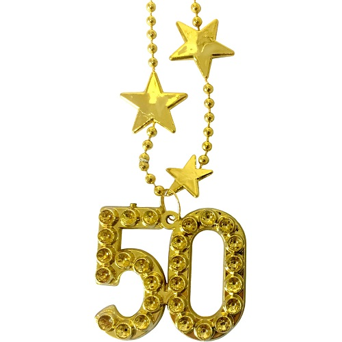 Ketting goud met sterren 50 jaar