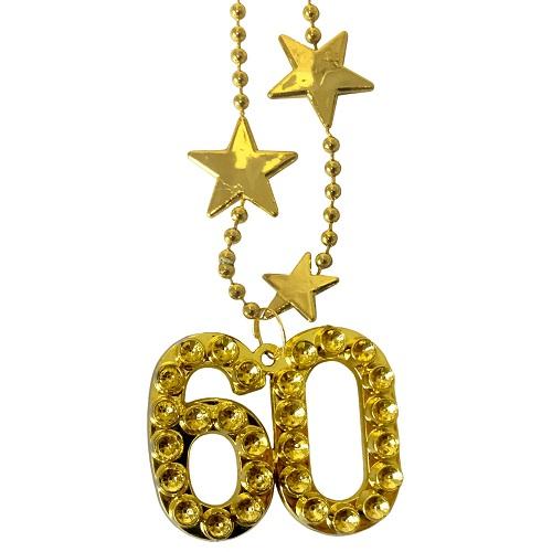 Ketting goud met sterren 60 jaar
