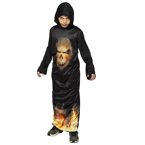 Kinderkostuum Mr Skull Fire - 10-12 jaar