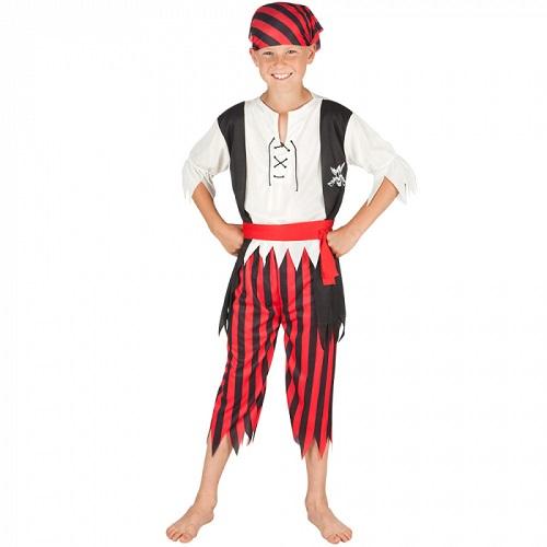 Kinderkostuum Piraat Jack - 7-9 jaar