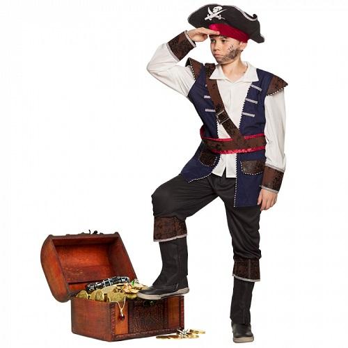 Kinderkostuum piraat Vince - 7-9 jaar