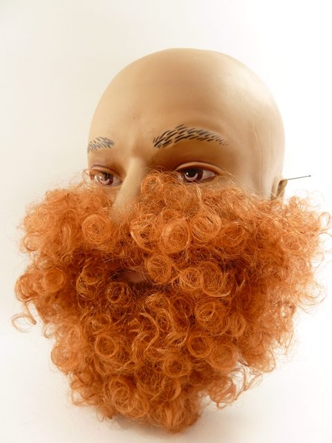 Korte baard rood bruin