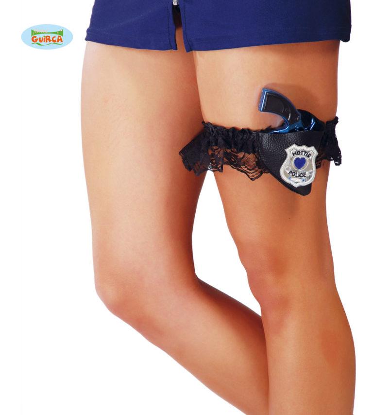 Kousenband met politiepistool