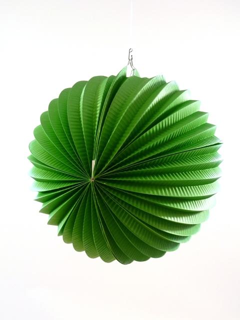 Lampion bol groen