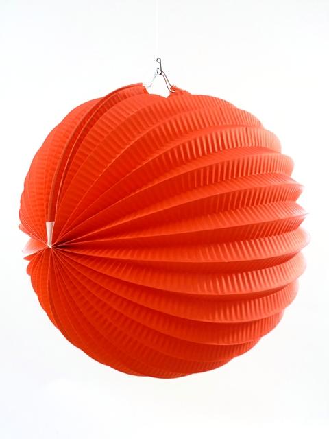Lampion bol rood