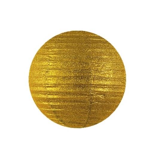 Lampion glitter goud 25cm