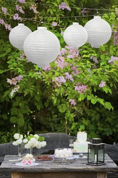 Lampion met licht wit 20cm