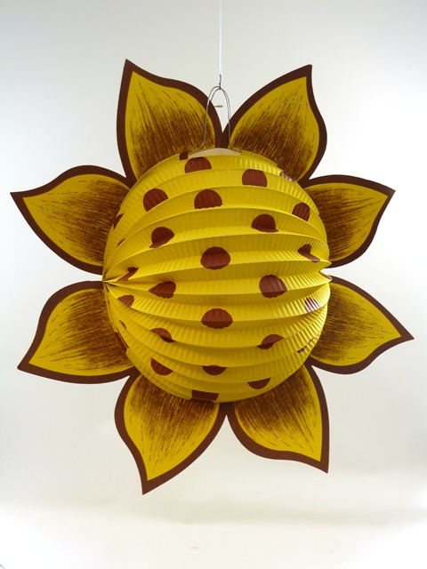 Lampion zonnebloem geel