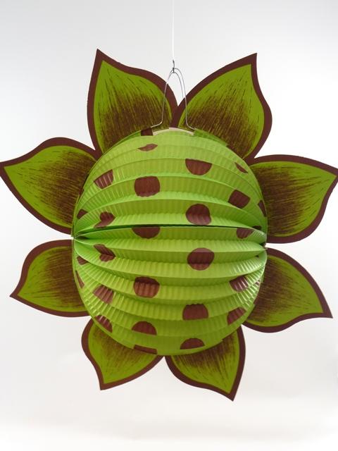 Lampion zonnebloem groen
