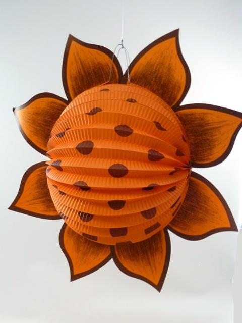 Lampion zonnebloem oranje