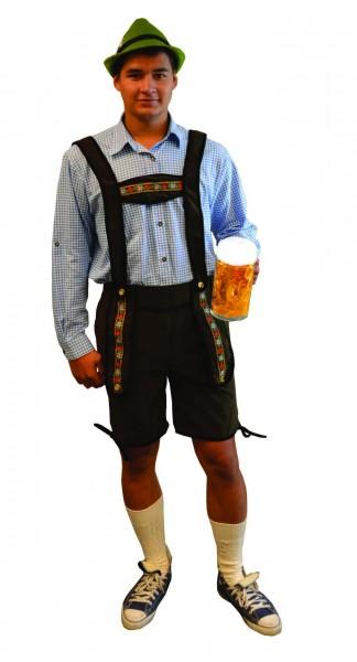 Lederhose Johann bruin kort - XLarge