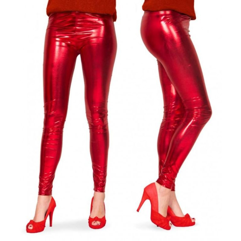 Legging rood metallic