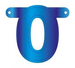 Letterslinger cijfer 0 blauw