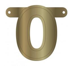 Letterslinger cijfer 0 goud