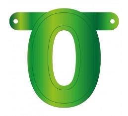 Letterslinger cijfer 0 groen
