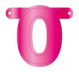 Letterslinger cijfer 0 roze