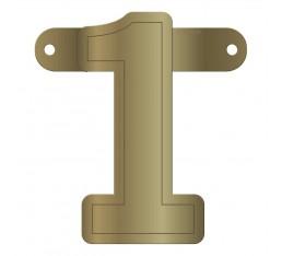 Letterslinger cijfer 1 goud