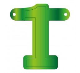 Letterslinger cijfer 1 groen