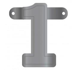 Letterslinger cijfer 1 zilver