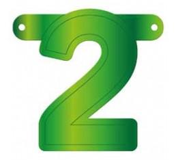 Letterslinger cijfer 2 groen