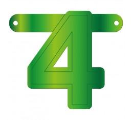 Letterslinger cijfer 4 groen