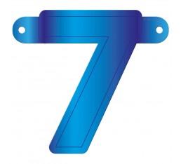 Letterslinger cijfer 7 blauw