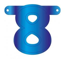 Letterslinger cijfer 8 blauw