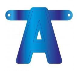 Letterslinger letter A blauw