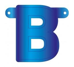 Letterslinger letter B blauw