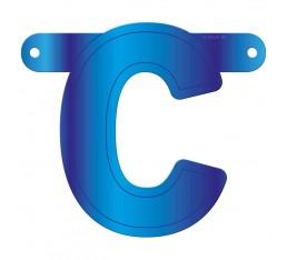 Letterslinger letter C blauw