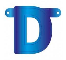 Letterslinger letter D blauw
