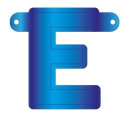 Letterslinger letter E blauw