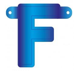 Letterslinger letter F blauw
