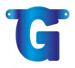 Letterslinger letter G blauw