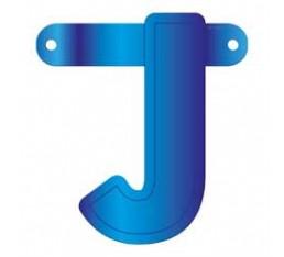 Letterslinger letter J blauw