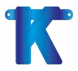 Letterslinger letter K blauw