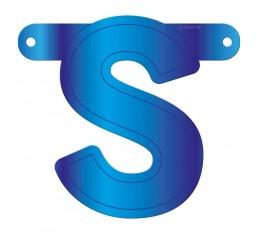 Letterslinger letter S blauw