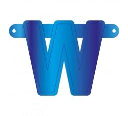 Letterslinger letter W blauw