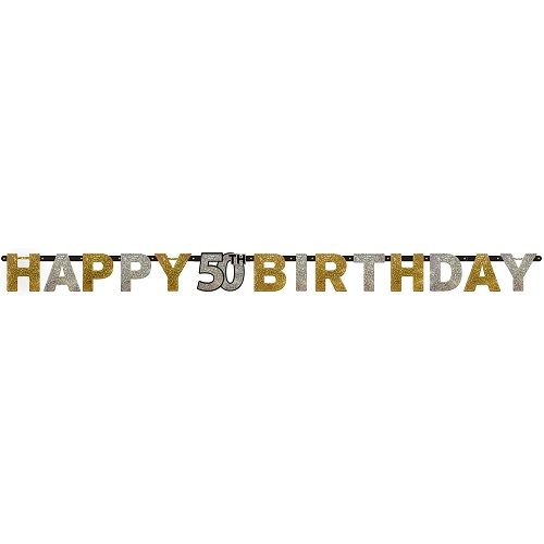 Letterslinger sparkling 50 jaar