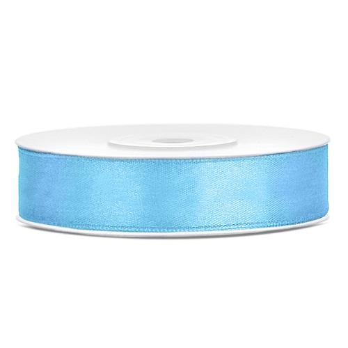 Lint satijn licht blauw 12mm 25m