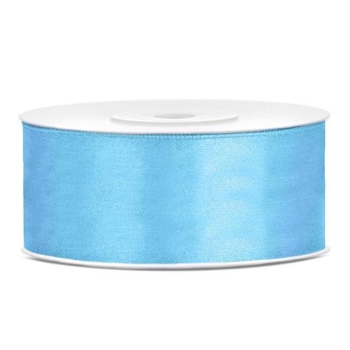 Lint satijn licht blauw 25mm 25m