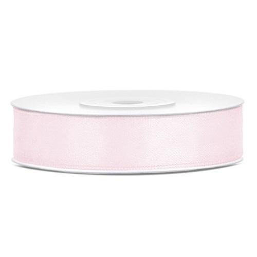 Lint satijn licht roze 12mm 25m
