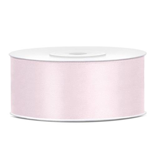 Lint satijn licht roze 25mm 25m