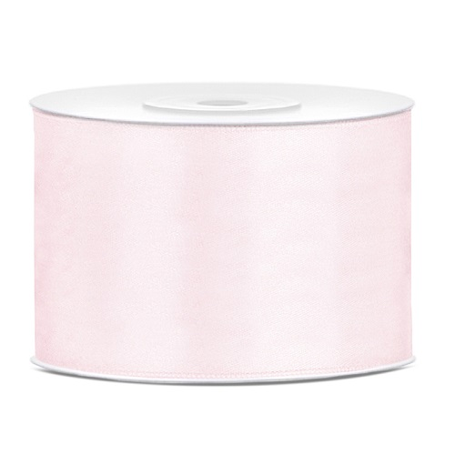 Lint satijn licht roze 50mm 25m