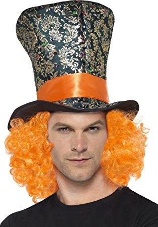 Mad hatter hoge hoed met haar