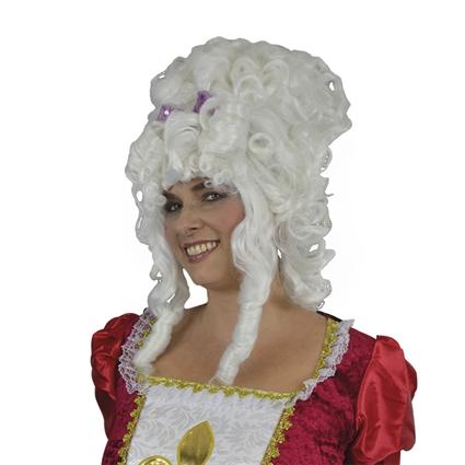 Marie Antoinette pruik wit